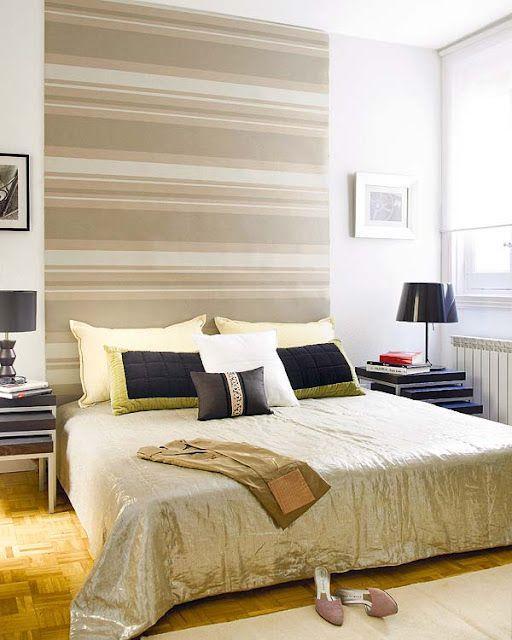 Ideas para cabeceros de cama low cost s per originales - Cabeceros papel pintado ...