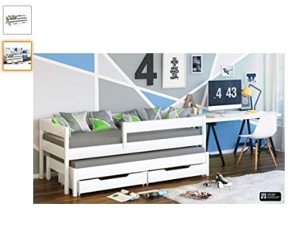 cama nido doble con cajones colores