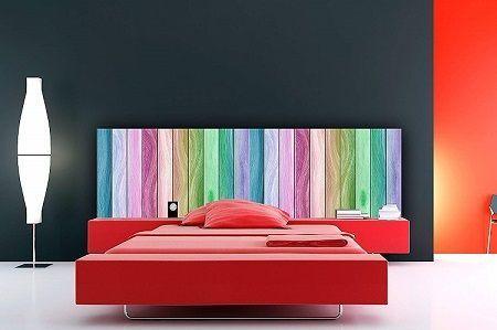 cabecero de cama barato arcoiris