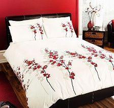 funda nórdica blanca con rosas
